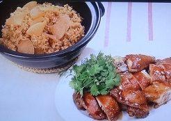 鶏の骨付き肉のしょうゆ煮、大根