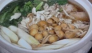 鶏ときのこのモリモリ鍋
