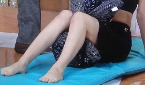 ひざ痛に座布団体操