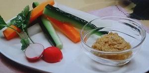 ターメリック味噌の野菜スティックサラダ