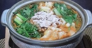 辛味噌の青菜鍋