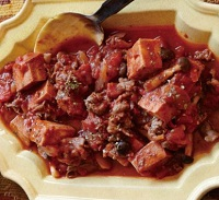 高野豆腐のスパイシートマト煮