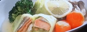 鮭のレモンロールキャベツ