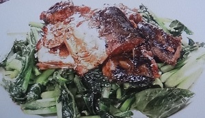 サバ缶と小松菜炒めレシピ