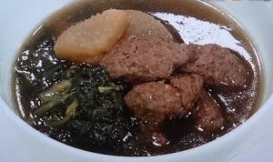 ウーロン茶肉だんごスープ