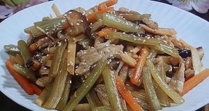 ふきと豚肉の中華風炒め