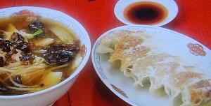 サンマー麺&餃子