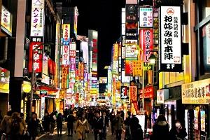 歌舞伎、夜景