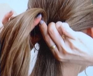 髪の毛くるりんぱ