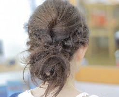 ヘアアレンジ、髪の毛