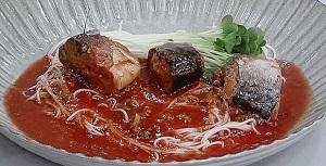 サバとトマトのピリ辛和風そうめんのレシピ