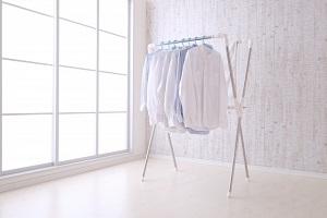 部屋干し、シャツ、洗濯