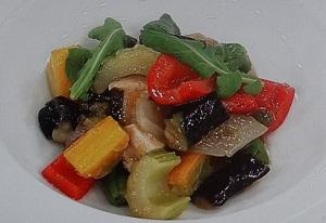 野菜炒め、なす