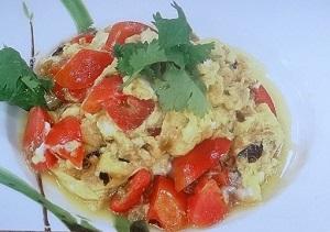 トマトと卵のタンタンジャン炒め