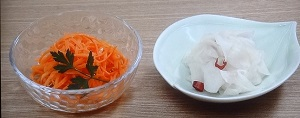 キャロットラペ& 大根の甘酢漬け