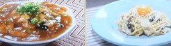カルボナーラ&天津飯
