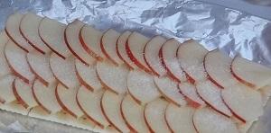 焼き魚グリルで季節のフルーツ(りんご)タルト