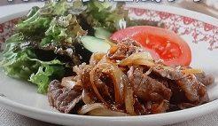 牛肉の洋食屋風ソテー