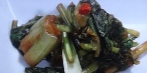 小松菜のしょうゆ漬け