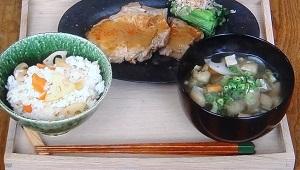 豚ロースの白味噌焼き,和定食