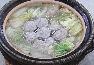 白菜と肉だんごのスープ