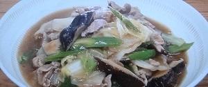 白菜とセロリ炒め中華風あんかけ