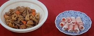 鶏肉と根菜の酢じょうゆ煮