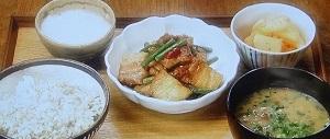 豚バラ肉とにんにくの芽のスタミナ炒め