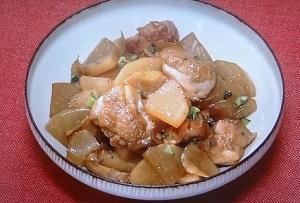 大根と鶏肉の甘辛しょうが煮