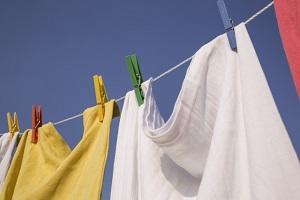 洗濯物干す