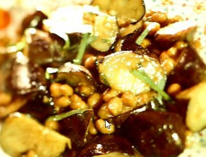 ナスと納豆の味噌炒め