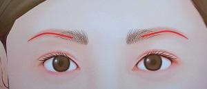 眉の背骨ライン