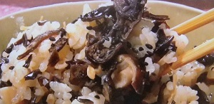 キクラゲ、きくらげ炊き込みご飯