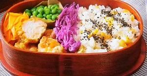 彩り弁当のレシピ