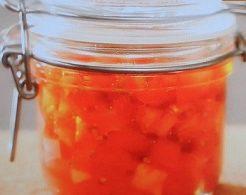 トマトの塩づけだれ