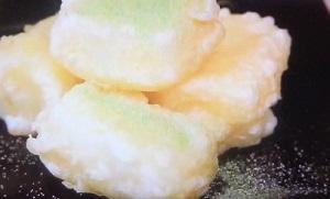 牛乳の天ぷらデザート