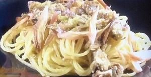 ワサビのサバ缶のスパゲッティ