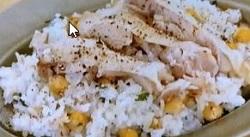 ひよこ豆と鶏肉の炊き込みご飯