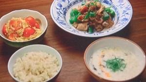 卵炒め&鹹豆漿