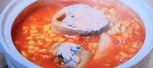 サバとトマトの洋風小鍋