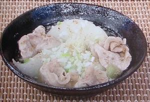 カブと豚肉の和風スープ