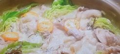 キャベツの豆乳鍋
