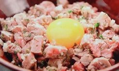 牛肉のタルタル風ステーキ