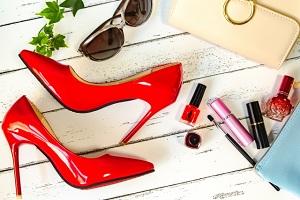 ファッション、女性、靴、服