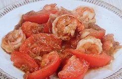 トマトとエビ