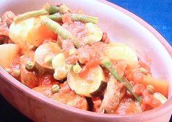 スペアリブと春野菜のトマト煮