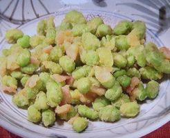 枝豆とハム